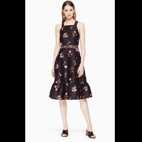 Kate Spade Ma Cherie In Bloom Fit & Flare Dress